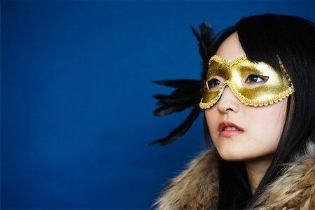 Portrait of Woman Wearing Mask Stock Photo - Premium Royalty-Free, Code: 600-02200248