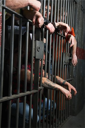 restrained - People in Prison Stock Photo - Premium Royalty-Free, Code: 600-02201369