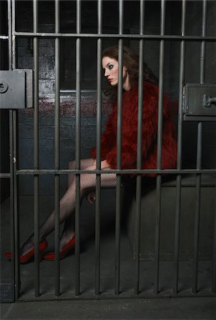 female only - Prostitute in Prison Stock Photo - Premium Royalty-Free, Code: 600-02201362