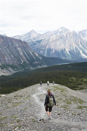 simsearch:600-00846421,k - Woman Hiking at Cavell Meadows, Mount Edith Cavell, Jasper National Park, Alberta, Canada Stock Photo - Premium Royalty-Free, Code: 600-02264449