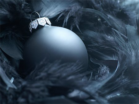 Christmas Ornament in Feathers Stock Photo - Premium Royalty-Free, Code: 600-02264807