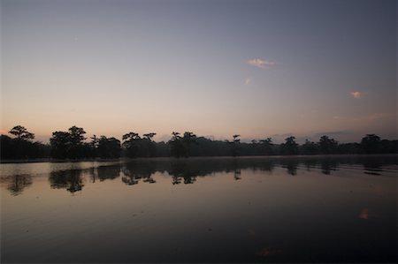 Lake Martin at Dusk, Lafayette, Louisiana, USA Stock Photo - Premium Royalty-Free, Code: 600-02265133