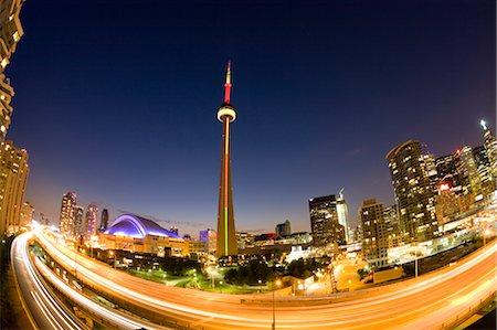 Toronto Skyline Above Gardiner Expressway, Ontario, Canada Stock Photo - Premium Royalty-Free, Code: 600-02347794