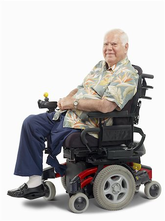 Disabled Man in Wheelchair Stock Photo - Premium Royalty-Free, Code: 600-02347992
