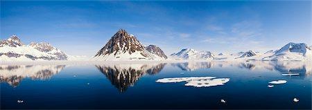 panoramic winter scene - Hornsund Fiord, Splitsbergen, Norway Stock Photo - Premium Royalty-Free, Code: 600-02348836