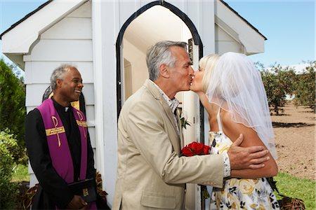 Bride and Bridegroom Kissing Stock Photo - Premium Royalty-Free, Code: 600-02376813