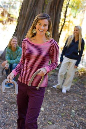 Women Playing Horseshoes Stock Photo - Premium Royalty-Free, Code: 600-02386129