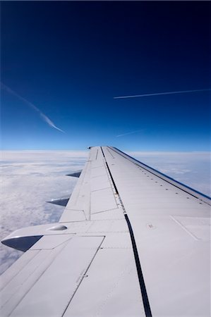 View of Airplane Wing from Airplane, Europe Stock Photo - Premium Royalty-Free, Code: 600-02428491