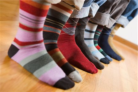Close-up of People Wearing Colourful Socks Stock Photo - Premium Royalty-Free, Code: 600-02586034