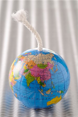 Globe with a Fuse Stock Photo - Premium Royalty-Free, Code: 600-02594032