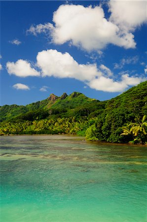 french polynesia - Overview of Bay, Huahine, French Polynesia Stock Photo - Premium Royalty-Free, Code: 600-02590613
