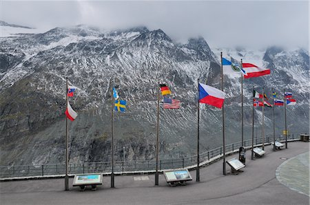 Mountain Lookout, Grossglockner High Alpine Road, Salzburger Land, Austria Stock Photo - Premium Royalty-Free, Code: 600-02593879