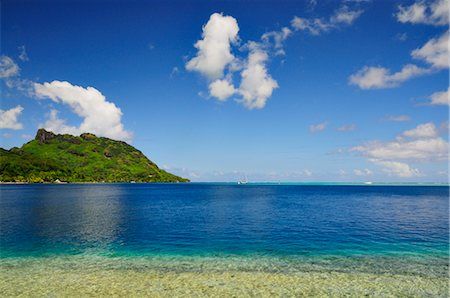 french polynesia - Haamene Bay, Huahine, French Polynesia, South Pacific Stock Photo - Premium Royalty-Free, Code: 600-02637400