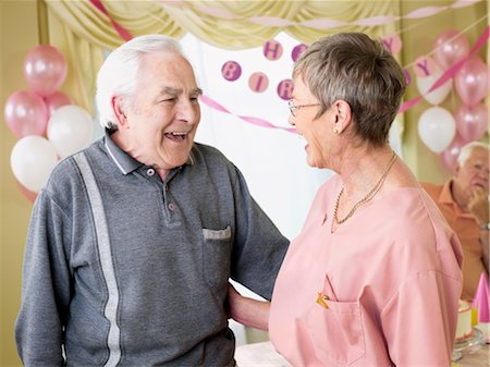 Birthday Party in Retirement Home Stock Photo - Premium Royalty-Free, Code: 600-02637672