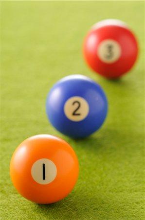 Close-Up of Billiard Balls Stock Photo - Premium Royalty-Free, Code: 600-02645984