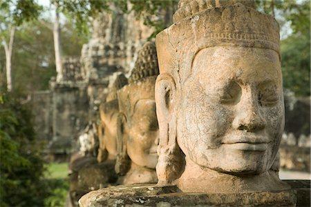 South Gate, Angkor Thom, Angkor, Cambodia Stock Photo - Premium Royalty-Free, Code: 600-02669513