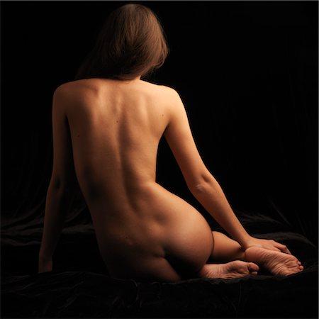 Backview of Women's Nude Body Stock Photo - Premium Royalty-Free, Code: 600-02669662