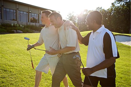 Men on Golf Course, Burlington, Ontario, Canada Stock Photo - Premium Royalty-Free, Code: 600-02670451