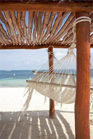 Hammock on Beach, Cancun, Mexico Stock Photo - Premium Royalty-Free, Code: 600-02686154