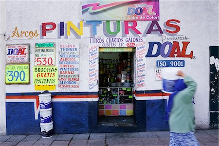 Paint Store, Queretaro, Mexico Stock Photo - Premium Royalty-Free, Code: 600-02694275