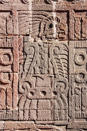 Carving in Quetzalpapalotl Palace, Teotihuacan Archaeological Site, Mexico Stock Photo - Premium Royalty-Free, Code: 600-02694318