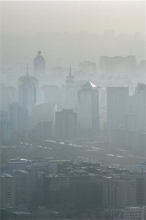 Aerial View of Pollution over Beijing, China Stock Photo - Premium Royalty-Free, Code: 600-02694425