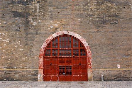 Door to Old Temple, Beijing, China Stock Photo - Premium Royalty-Free, Code: 600-02694430