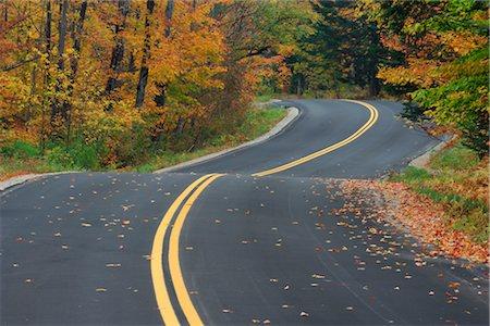 Road Through Forest in Autumn, Vermont, USA Stock Photo - Premium Royalty-Free, Code: 600-02691456