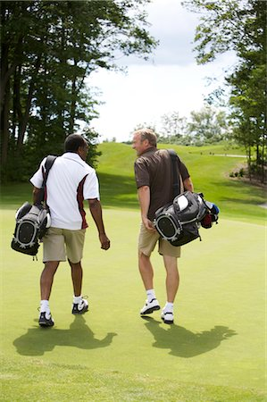 Men Walking on Golf Course, Burlington, Ontario, Canada Stock Photo - Premium Royalty-Free, Code: 600-02701103