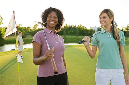 Friends Playing Golf, Burlington, Ontario, Canada Stock Photo - Premium Royalty-Free, Code: 600-02701195