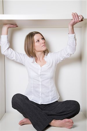restrained - Woman Trying to Escape From Box Stock Photo - Premium Royalty-Free, Code: 600-02798110