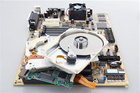 Computer Parts Stock Photo - Premium Royalty-Free, Code: 600-02801132