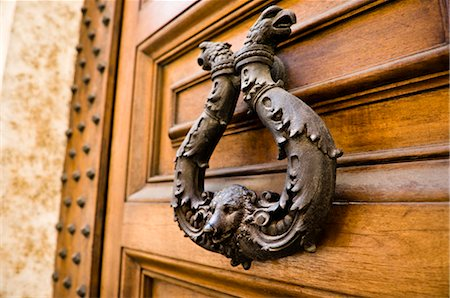 Door Knocker, Rome, Latium, Italy Stock Photo - Premium Royalty-Free, Code: 600-02828564