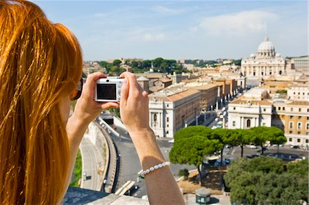 Woman Taking Photograph of Vatican City, Rome, Latium, Italy Stock Photo - Premium Royalty-Free, Code: 600-02828611