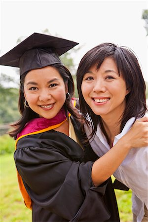 Portrait of Graduate With mother Stock Photo - Premium Royalty-Free, Code: 600-02833780