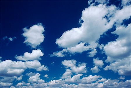 fluffy - White Clouds, Blue Sky Stock Photo - Premium Royalty-Free, Code: 600-02886105
