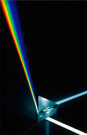 refraction - Light Refracting in Prism Stock Photo - Premium Royalty-Free, Code: 600-02886435