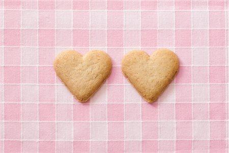 Heart-shaped Cookies Stock Photo - Premium Royalty-Free, Code: 600-02903811