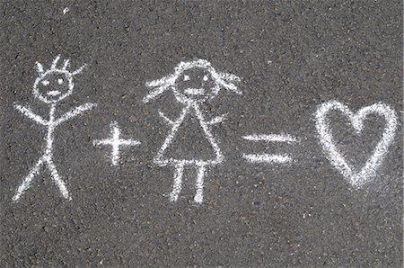 Chalk Drawing Stock Photo - Premium Royalty-Free, Code: 600-02912552