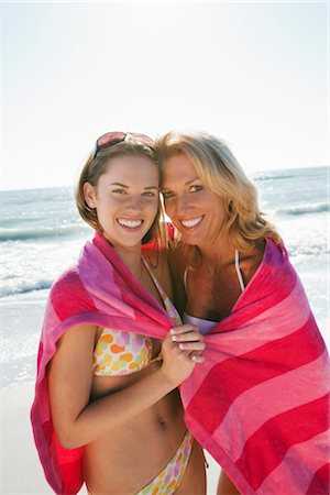 Mother and Daughter on Beach, Florida, USA Stock Photo - Premium Royalty-Free, Code: 600-02957669