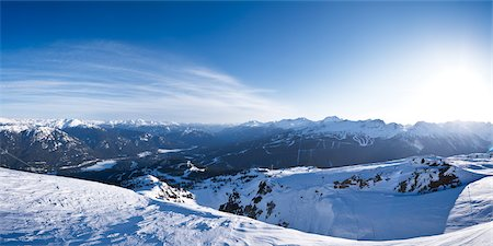 panoramic winter scene - Whistler Mountain, Whistler, British Columbia, Canada Stock Photo - Premium Royalty-Free, Code: 600-03014815