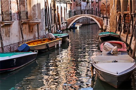 Boats on Canal, Venice, Italy Stock Photo - Premium Royalty-Free, Code: 600-03014950