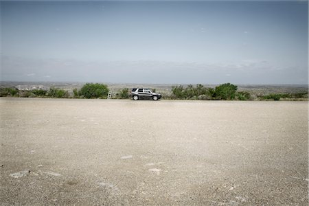 Car Parked on Side of Road, Del Rio, Texas, USA Stock Photo - Premium Royalty-Free, Code: 600-03059331