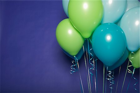 Balloons Against a Blue Background Stock Photo - Premium Royalty-Free, Code: 600-03075829