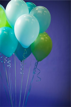 Balloons Against a Blue Background Stock Photo - Premium Royalty-Free, Code: 600-03075831