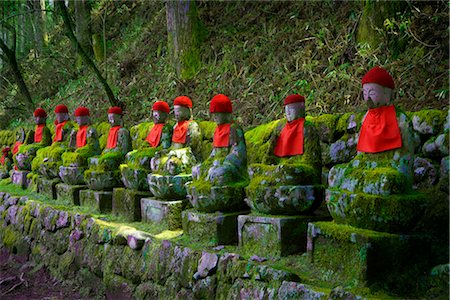 Buddha Statues, Nikko National Park, Kanto Region, Honshu, Japan Stock Photo - Premium Royalty-Free, Code: 600-03152239