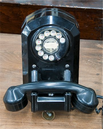 Old Fashioned Rotary Telephone Stock Photo - Premium Royalty-Free, Code: 600-03166531