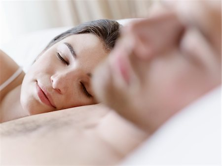 Couple in Bed Asleep Stock Photo - Premium Royalty-Free, Code: 600-03178976