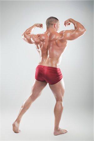 Portrait of Body Builder Stock Photo - Premium Royalty-Free, Code: 600-03179201