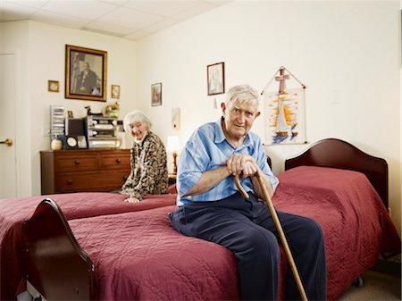 Elderly Couple in Retirement Home Stock Photo - Premium Royalty-Free, Code: 600-03210390